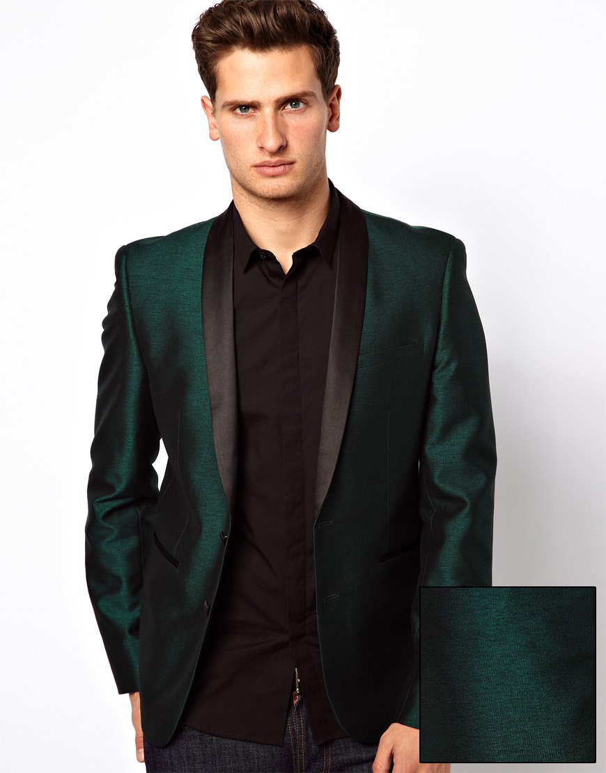 Asos Slim Fit Suit Jacket in Tonic in Green for Men | Lyst