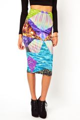 Asos Pencil Skirt in Graphic Galaxy Print - Lyst
