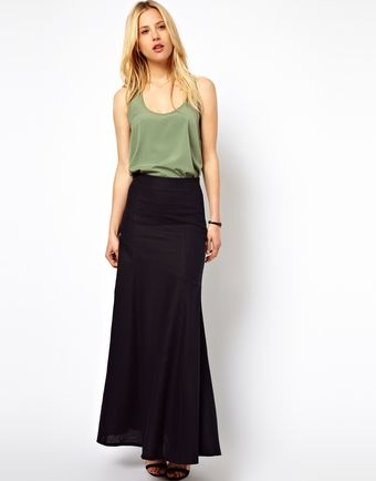 Asos Maxi Skirt in Linen - Lyst