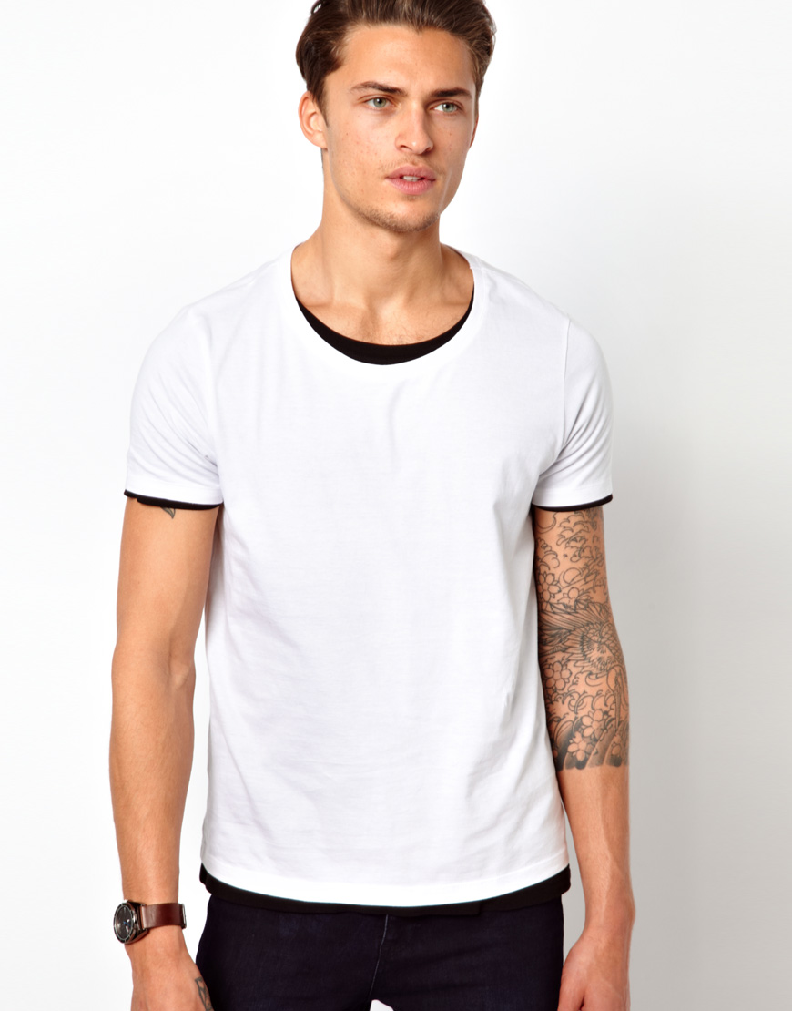 Asos Two Pack T Shirt With Scoop Neck In White For Men