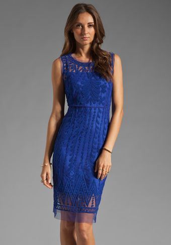 Catherine Malandrino Favorites Dress with Embroidery in Royal - Lyst