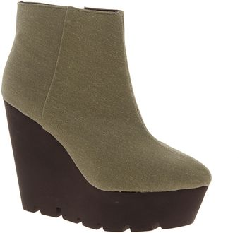 Cheap Monday Monolit Canvas Wedge Boot - Lyst