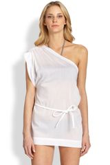 Oneshoulder Cotton Coverup