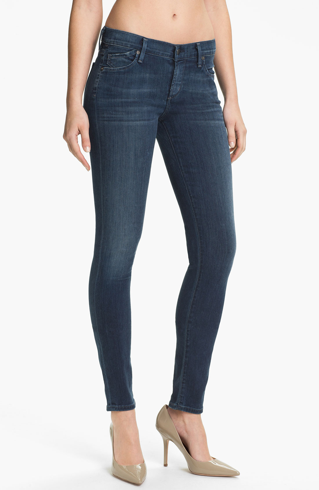 citizens of humanity skinny stretch jeans secret in blue. Black Bedroom Furniture Sets. Home Design Ideas