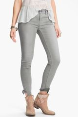 Free People Crop Stretch Denim Skinny Jeans  - Lyst