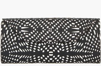 Gareth Pugh Black Lasercut Patterned Folding Wallet - Lyst