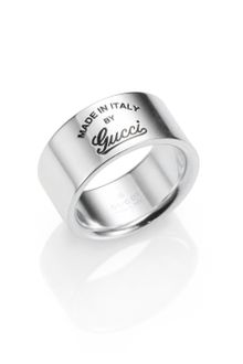 Gucci Sterling Silver Signature Ring - Lyst