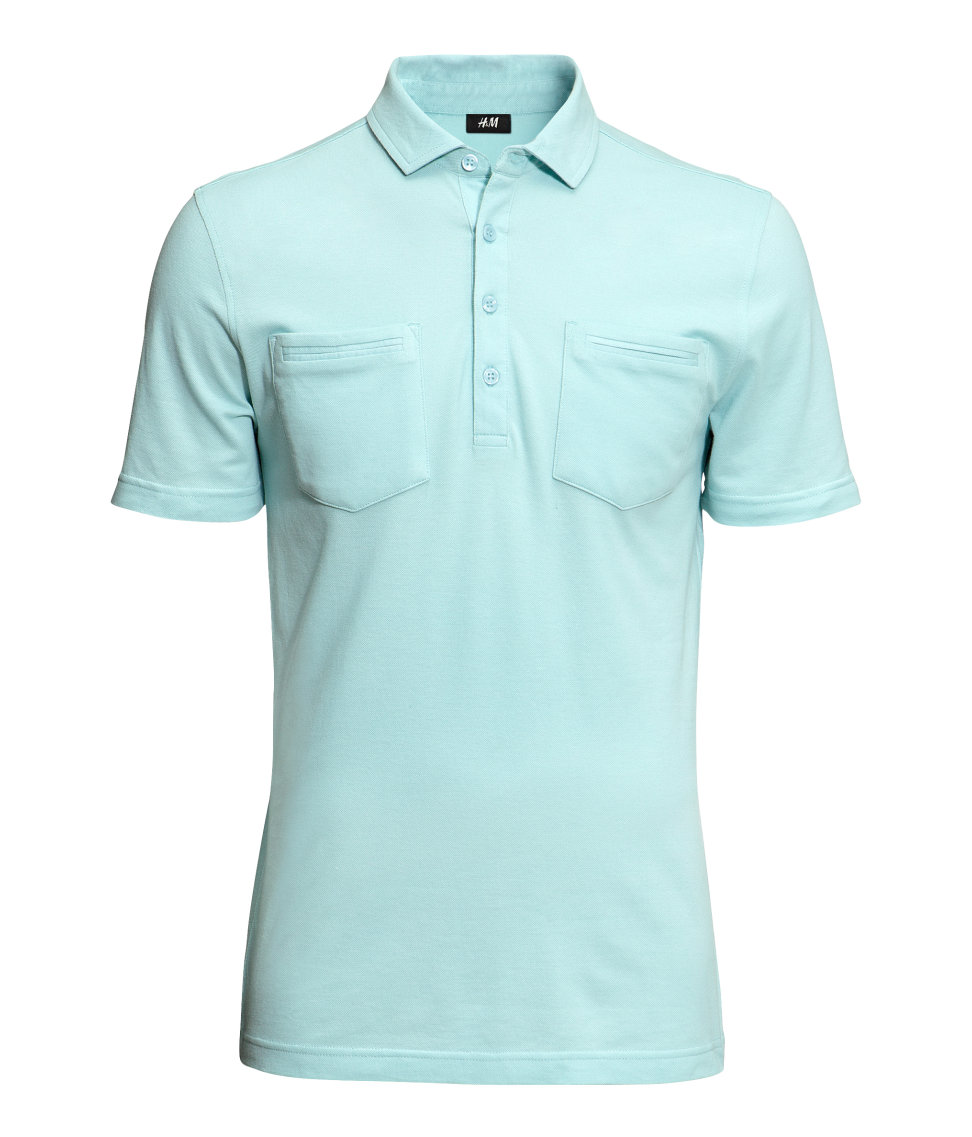 Lyst H Amp M Polo Shirt In Green For Men