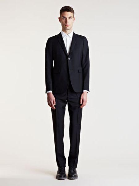 Jil sander alice alessandro slim fit suit in black for men lyst