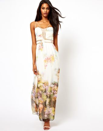 Little Mistress Maxi Dress in Floral Print - Lyst