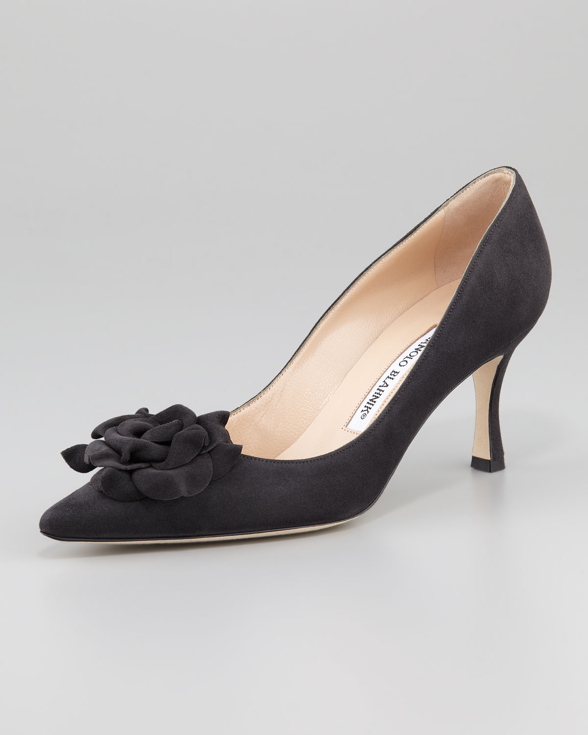 clearance top quality Manolo Blahnik Suede Floral Pumps discount footlocker finishline sale with paypal clearance get authentic release dates cheap online oPU2Hg8