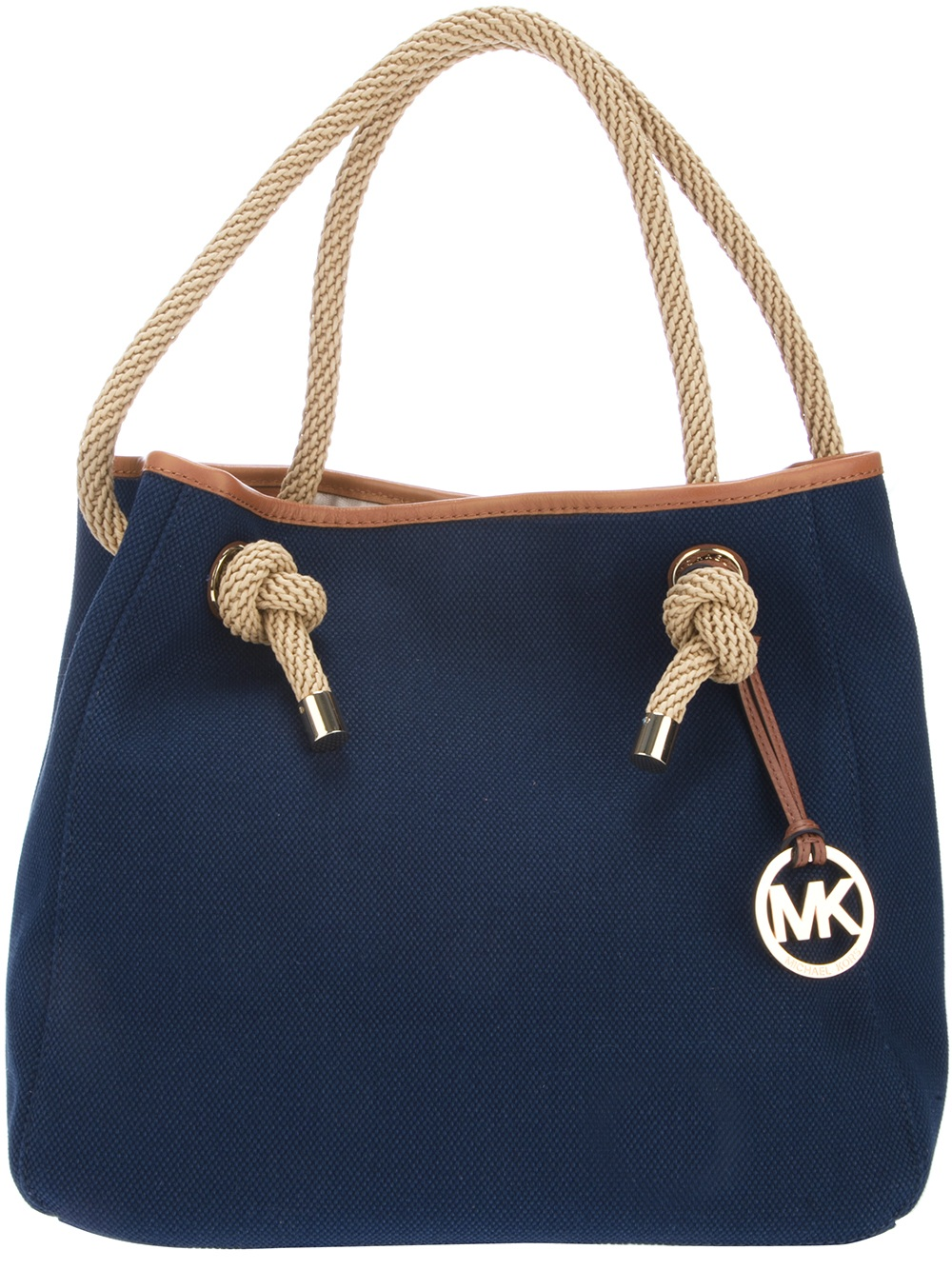 5a88375e4ae9 MICHAEL Michael Kors Rope Handle Shopper Tote in Blue - Lyst