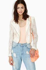 Nasty Gal Sweet Lace Moto Jacket - Lyst
