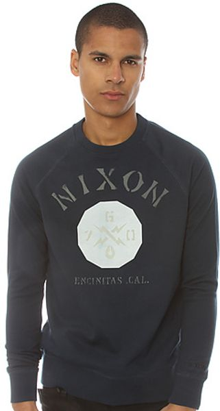 Nixon The Series Crewneck Sweatshirt  - Lyst