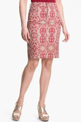 Nydj Emma Stretch Twill Skirt - Lyst