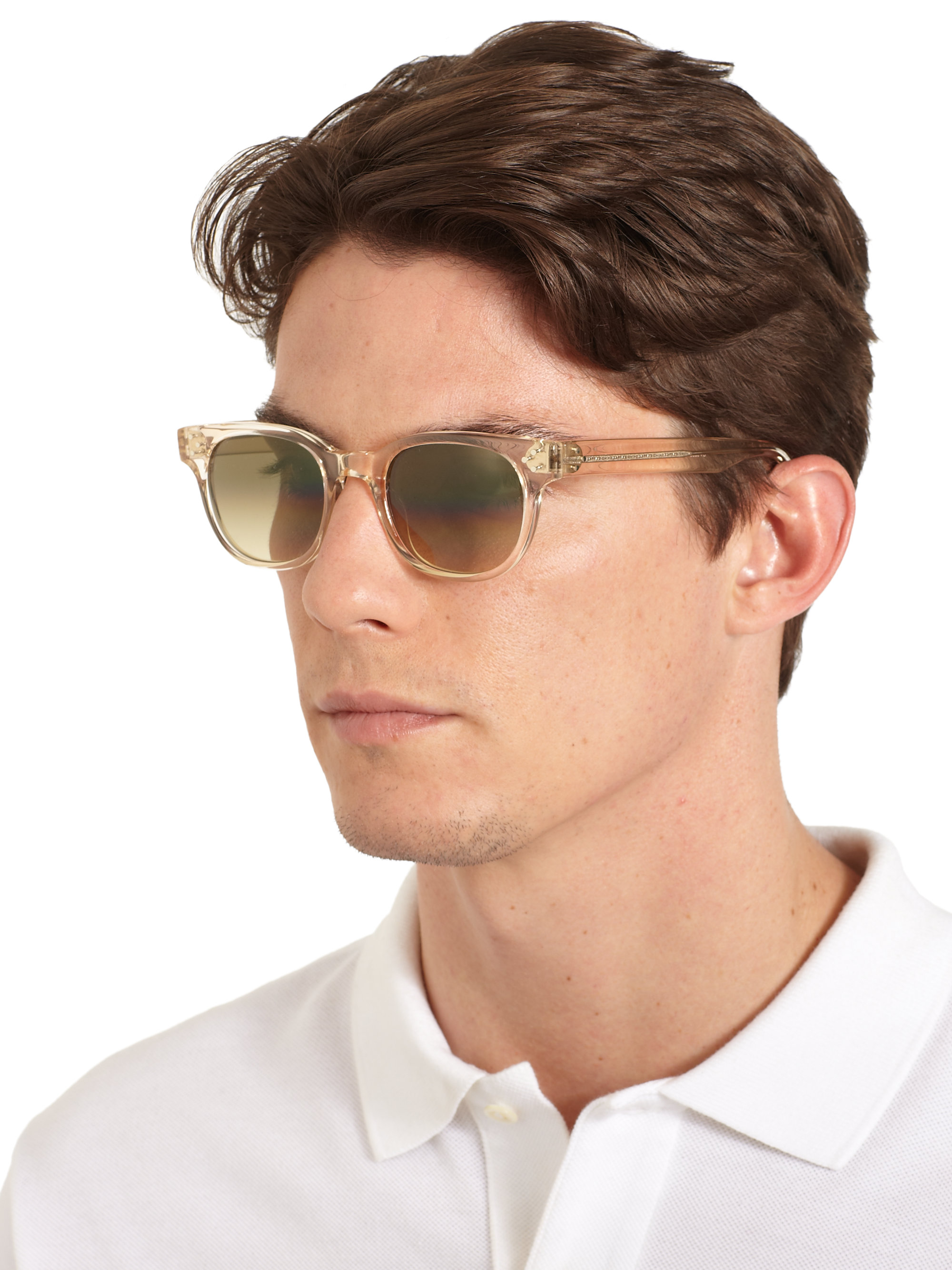 Oliver Peoples Afton Round Acetate Sunglasses In Brown For