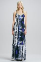 Parker Anna Printed Maxi Dress - Lyst