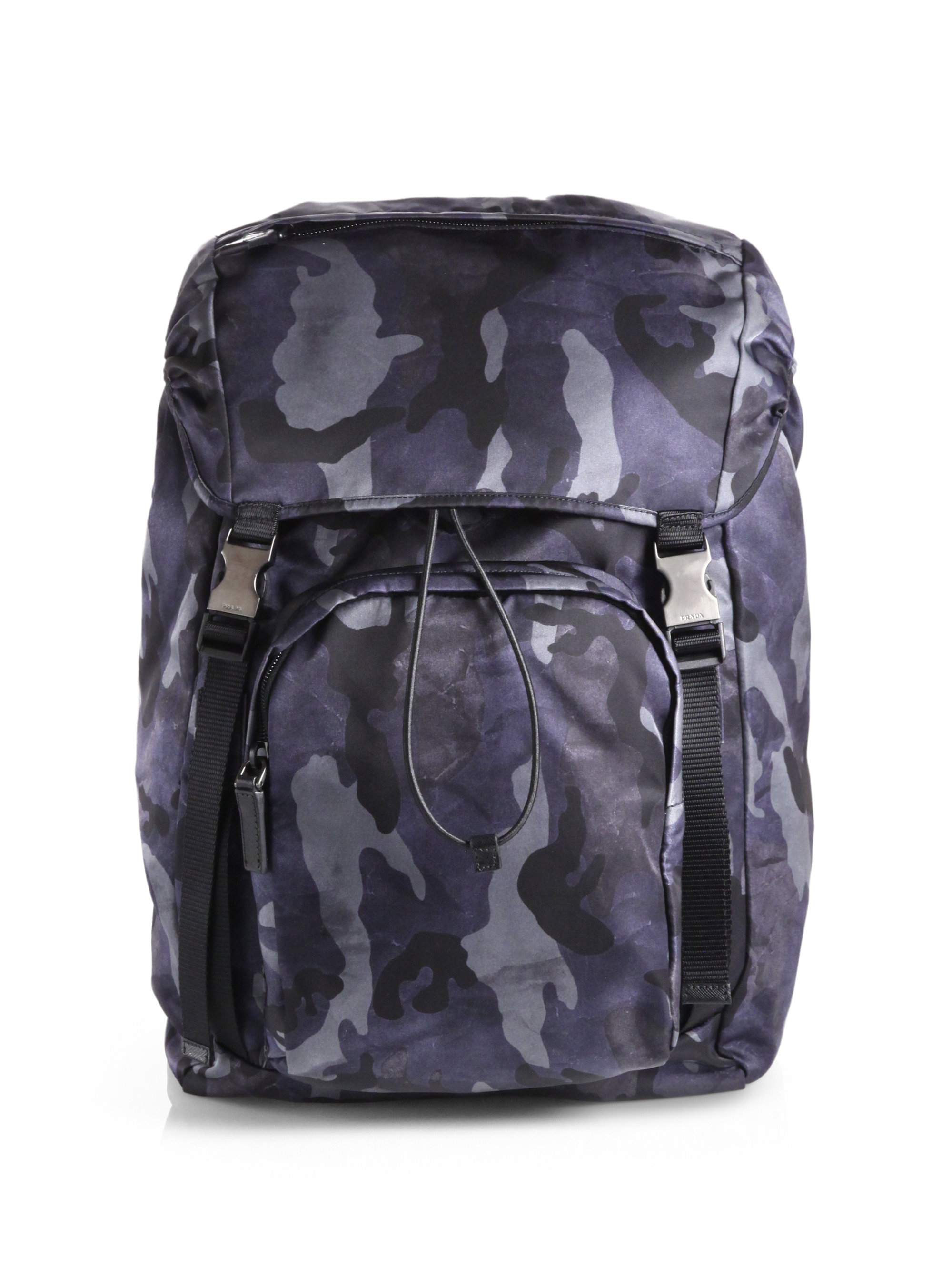 Prada Zaino Camo Backpack in Blue for Men | Lyst