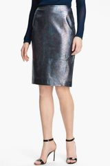Rachel Roy Leather Pencil Skirt - Lyst