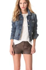 Rag & Bone Denim Knit Jacket - Lyst