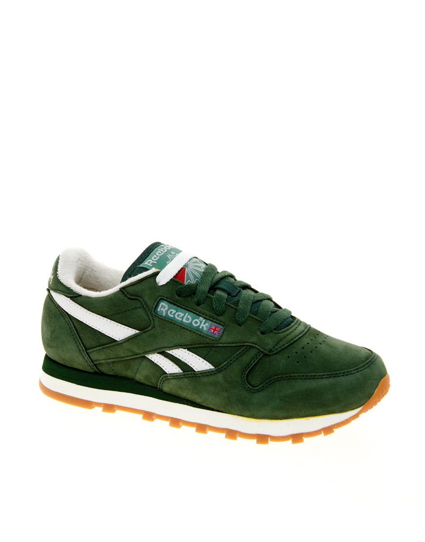 reebok classic vintage green trainers in green for men lyst. Black Bedroom Furniture Sets. Home Design Ideas