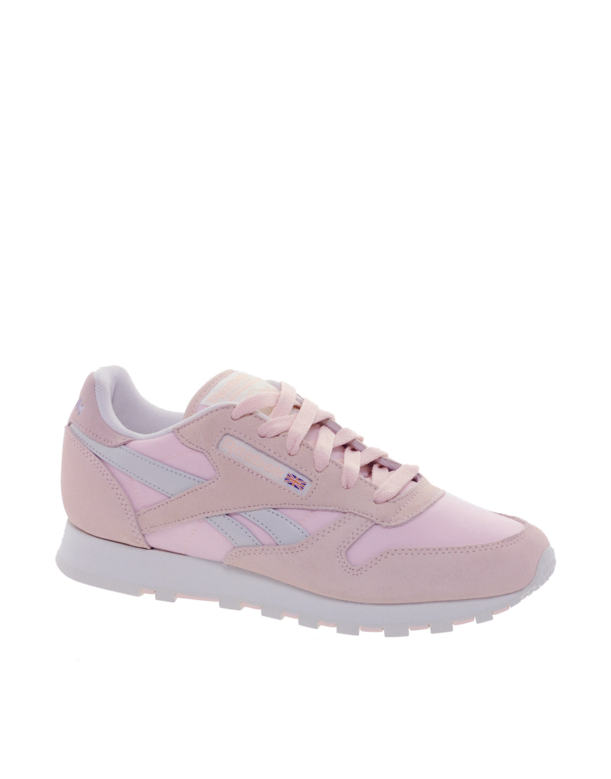 Baby Pink Reebok Shoes