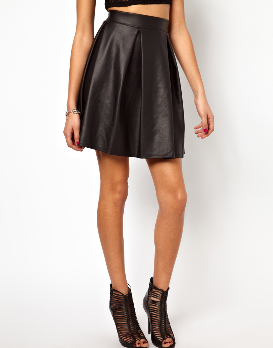 b6f9410c1 High Waisted Leather Skirt River Island | Saddha