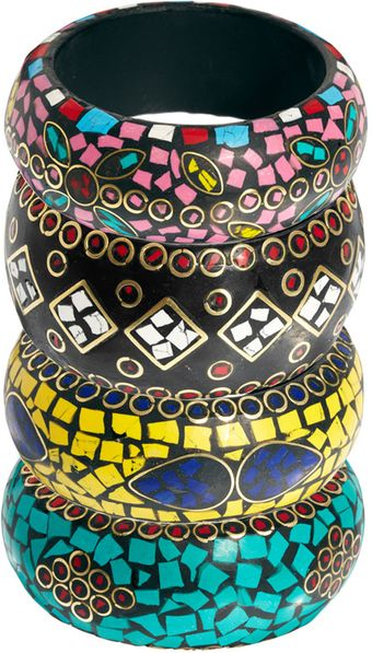 River Island Mosaic Bangle Set - Lyst