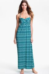 Robin Piccone Ikat Print Strapless Coverup Dress - Lyst