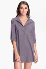 Shimera Mixed Media Nightshirt - Lyst
