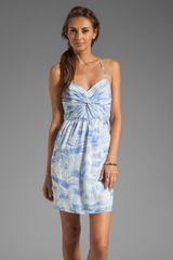 Shoshanna Carine Dress in Blue in Blue - Lyst