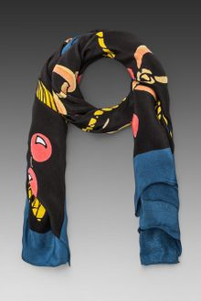 Sonia By Sonia Rykiel Square Scarf in Black - Lyst