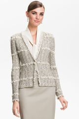 St. John Collection Collection Positano Tweed Knit Jacket - Lyst