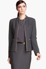 St. John Collection Collection Chain Trim Bouclé Jacket - Lyst