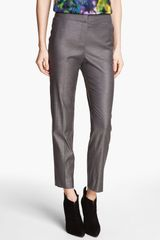St. John Collection Collection Emma Shimmer Twill Crop Pants - Lyst
