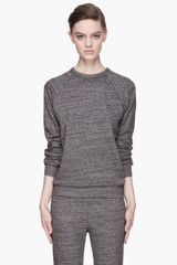 T By Alexander Wang Flecked Terry Sweatshirt - Lyst