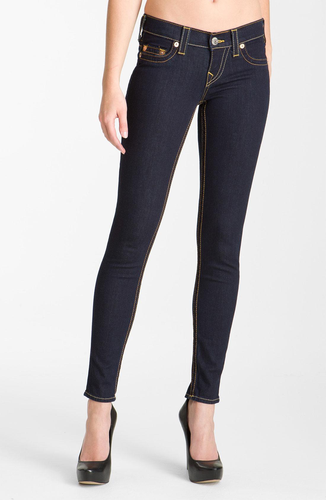 true religion casey skinny stretch jeans in blue. Black Bedroom Furniture Sets. Home Design Ideas