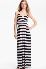 Vince Camuto Stripe Halter Maxi Dress - Lyst