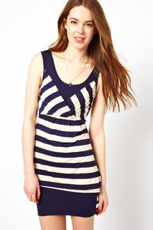 Wal-g Stripe Jersey Dress - Lyst