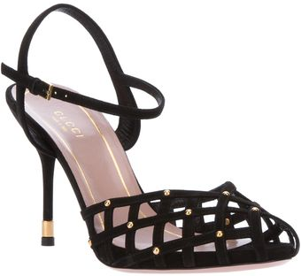 Gucci Intricately Cut Sandal Pump - Lyst