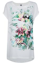 M Missoni Parrot Print Long T-shirt - Lyst