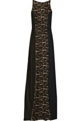 Nina Ricci Charmeuse and Crepepaneled Lace Gown - Lyst