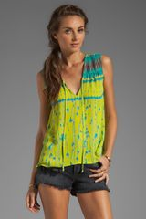 BCBGMAXAZRIA Flowy Top in Green - Lyst