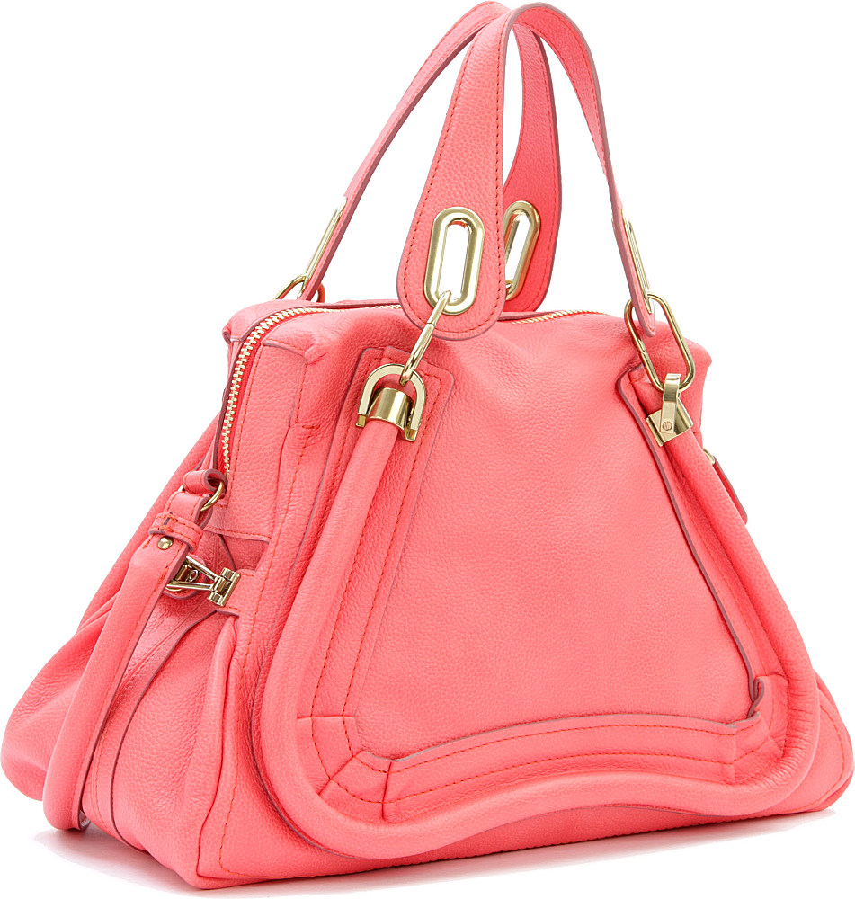 Chlo¨¦ Paraty Medium Shoulder Bag in Pink (paradise pink) | Lyst