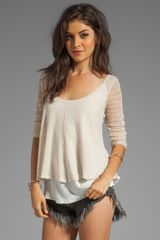 Free People Twisted Tea Sweater in Cream - Lyst