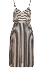 Giada Forte Pleated Skirt Stripe Dress - Lyst