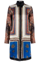 Givenchy Scarf Print Shirt Dress - Lyst