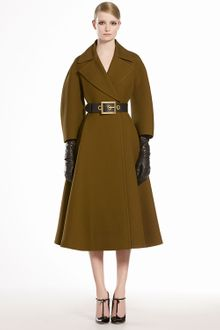 Gucci Wool Silk Oversized Coat - Lyst