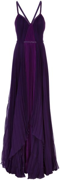 J. Mendel Pleated Sleeveless Gown - Lyst
