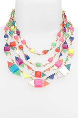 Kate Spade Pueblo Tiles Mix Shape Multi Row Necklace - Lyst